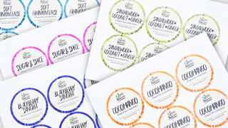 Customizable Circle Sheet Labels