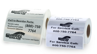 Weatherproof Service Labels on Rolls