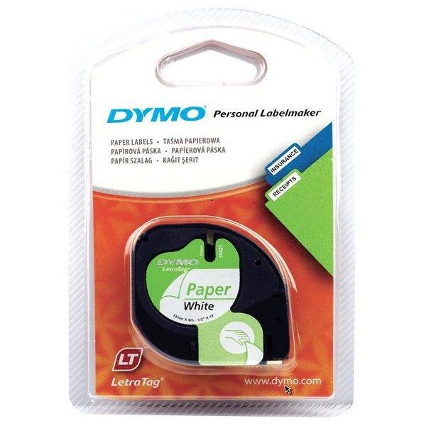 Dymo 10697 White Paper Tape 2-Pack