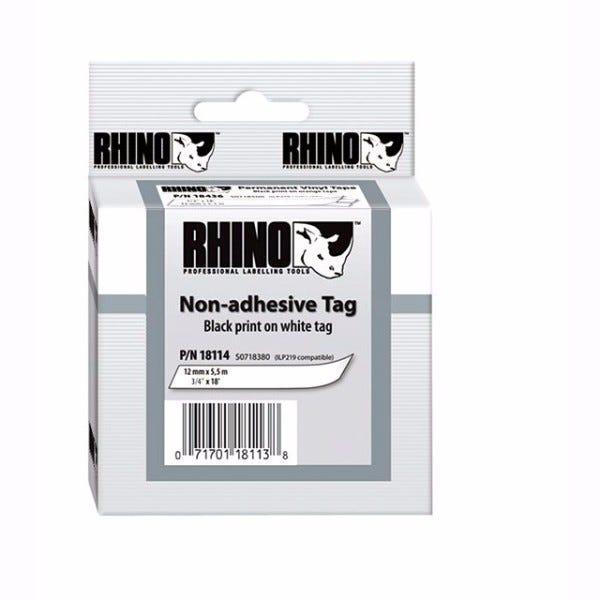 """Rhino 3/4"""" White Non Adhesive Tape (19MM)"""