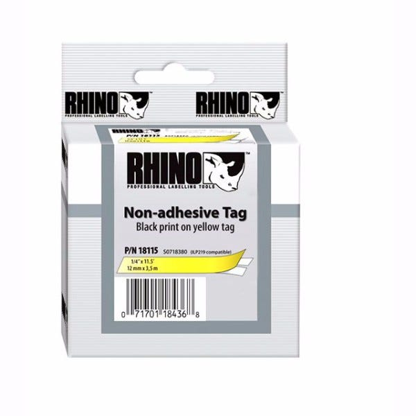 """Rhino 1/4"""" Yellow Non Adhesive Tape (6MM)"""