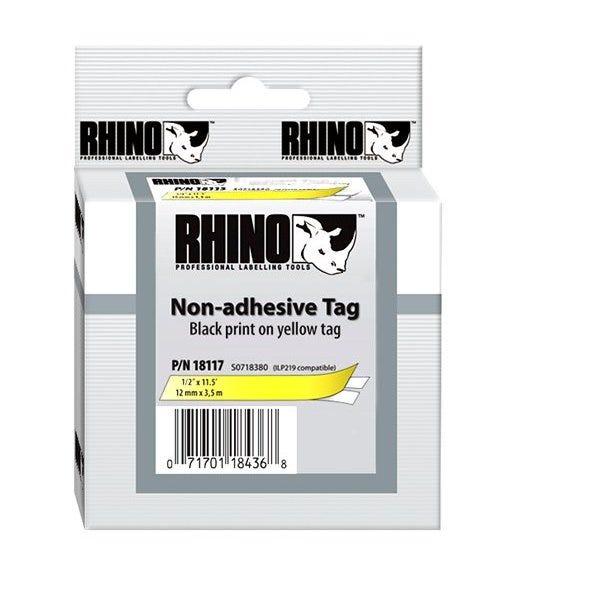 """Rhino 1/2"""" Yellow Non Adhesive Tape (12MM)"""