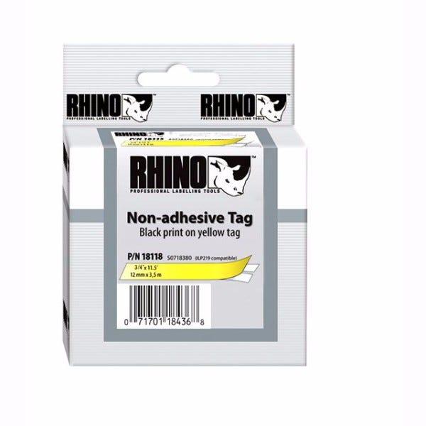 """Rhino 3/4"""" Yellow Non Adhesive Tape (19MM)"""