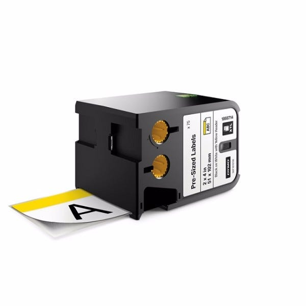 "Dymo XTL 1868714 Yellow-Header Pre-Printed 2"" x 4"" Labels"