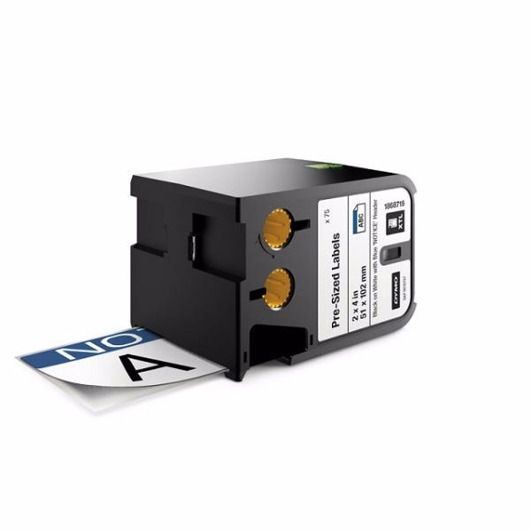 """Dymo XTL 1868715 NOTICE Pre-Printed 2"""" x 4"""" Labels"""