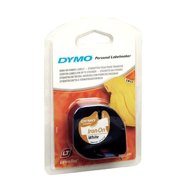 Dymo 18771 White Iron-On Tape for Fabric