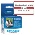 Dymo 30276 File Folder Labels w/Red Stripe - 2-up