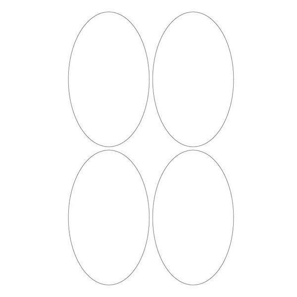 "Custom 3"" x 5"" Oval Labels"