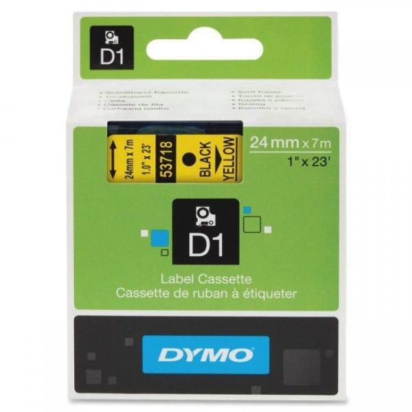 "Dymo 53718 Black on Yellow - 1"" Tape"
