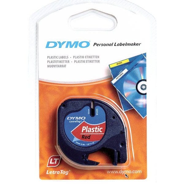 Dymo 91333 Red Plastic Tape