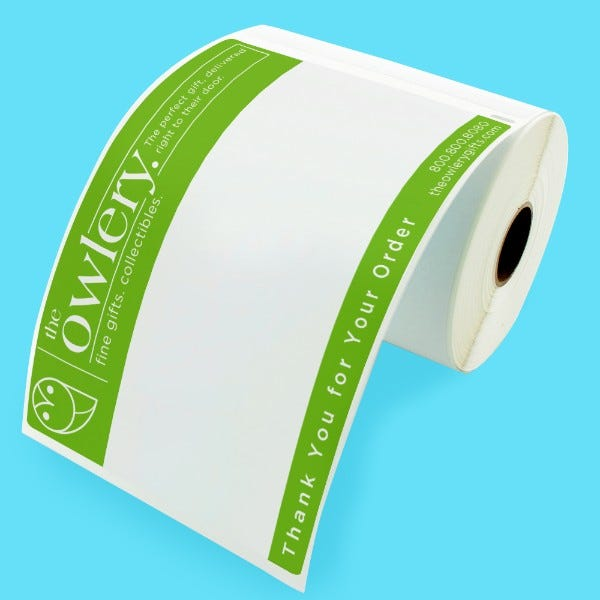 """Custom Printed Extra Large Dymo 4"""" x 6"""" Shipping Labels"""