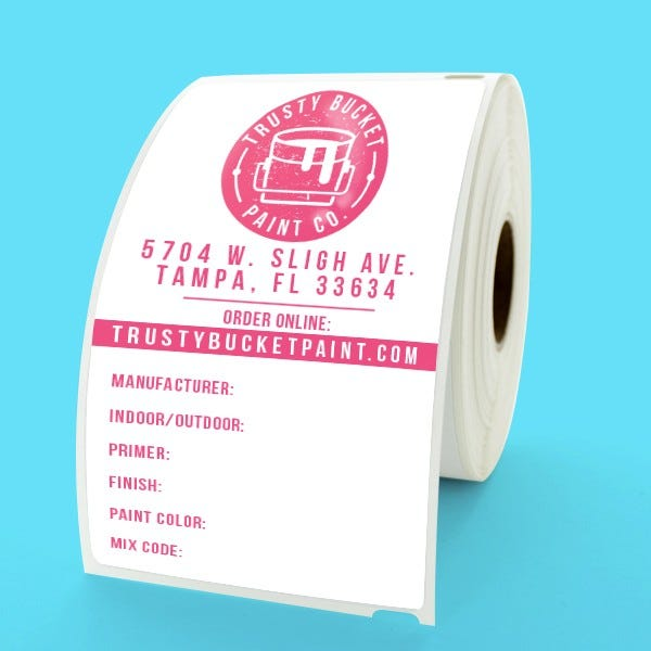Custom Printed Large Dymo Shipping Labels - CLV-30256
