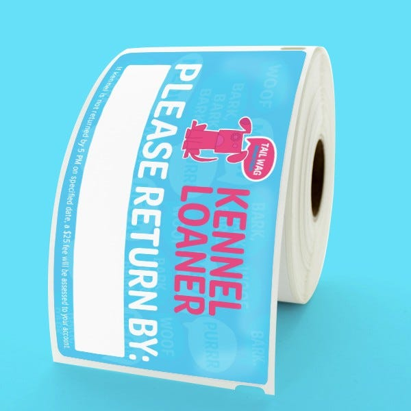 Custom Printed Removable Dymo Shipping Labels - CLV-30256R