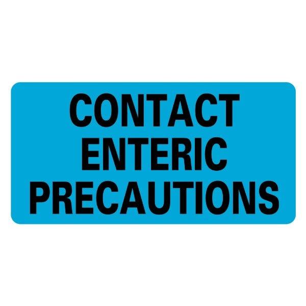 CONTACT ENTERIC PRECAUTIONS Infection Control Medical Labels