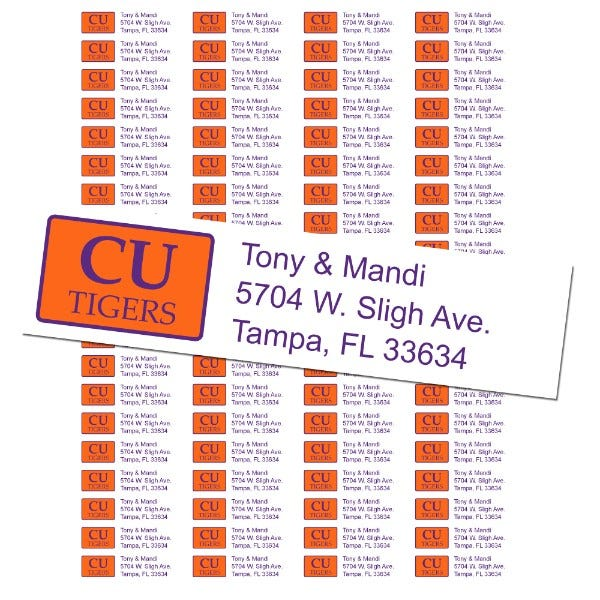 Clemson University Custom Return Address Labels