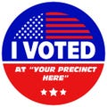 Custom I Voted Stickers
