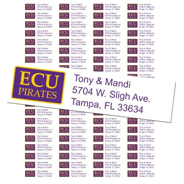 East Carolina University Custom Return Address Labels