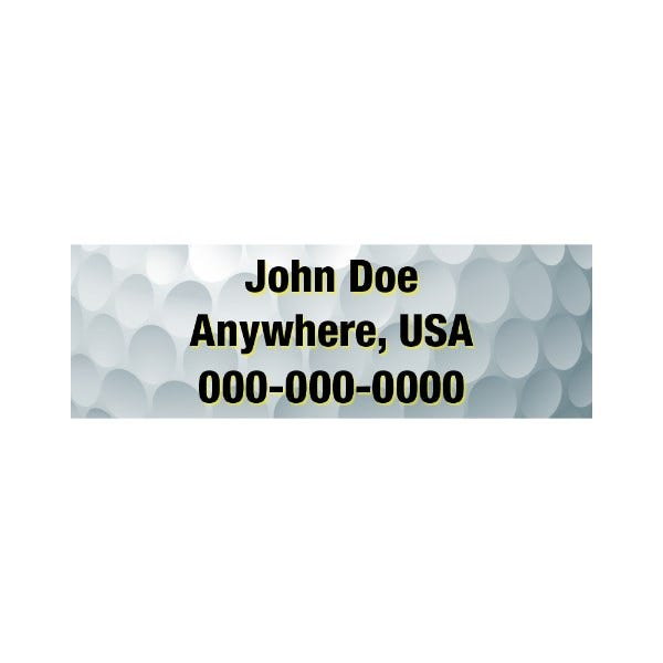 Golf Ball Golf Club Labels
