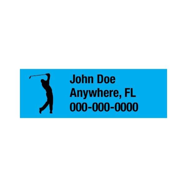 The Golfer Golf Club Labels