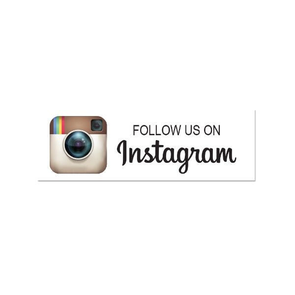 Follow Us On Instagram Printed Labels