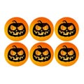Jack O Lantern Pumpkin Halloween Labels