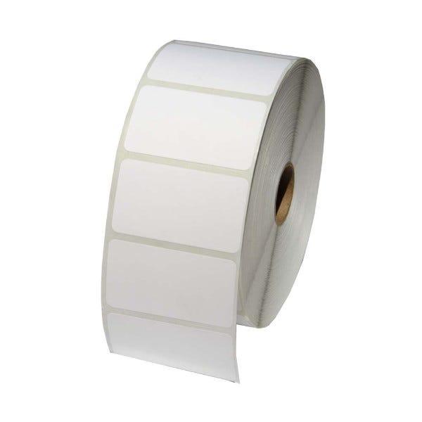 """Zebra 2-1/4"""" x 1-1/4"""" Polypropylene Labels 5"""" OD - LV-10010063POLY"""