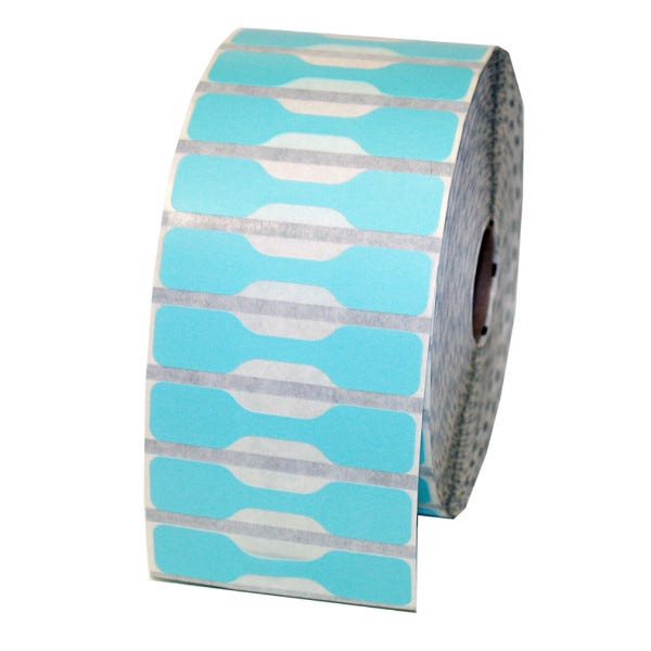 Zebra Blue Jewelry Labels - Barbell Style - LV-10010064