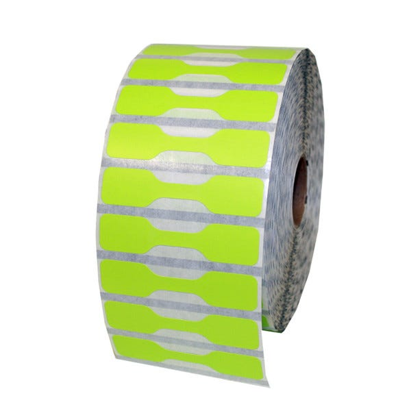 Zebra Green Jewelry Labels - Barbell Style - LV-10010064
