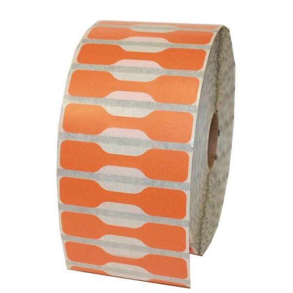 Zebra Orange Jewelry Labels - Barbell Style - LV-10010064
