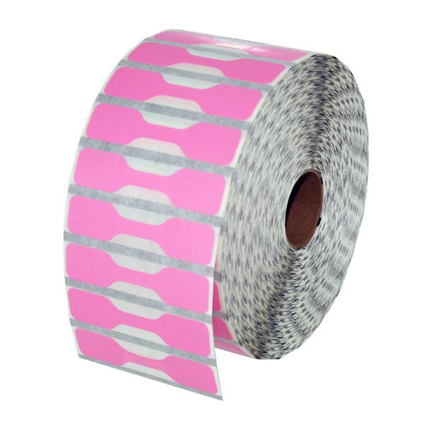 Zebra Pink Jewelry Labels - Barbell Style - LV-10010064