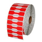 Zebra Red Jewelry Labels - Barbell Style - LV-10010064