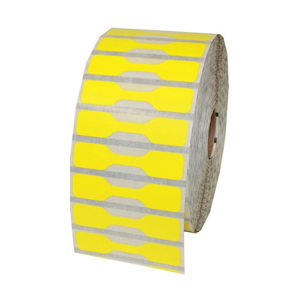 Zebra Yellow Jewelry Labels - Barbell Style - LV-10010064