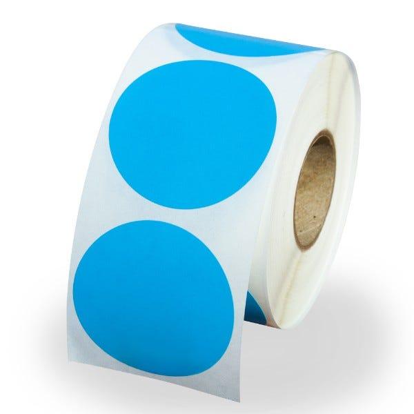 "1.5"" Round Labels - Blue"