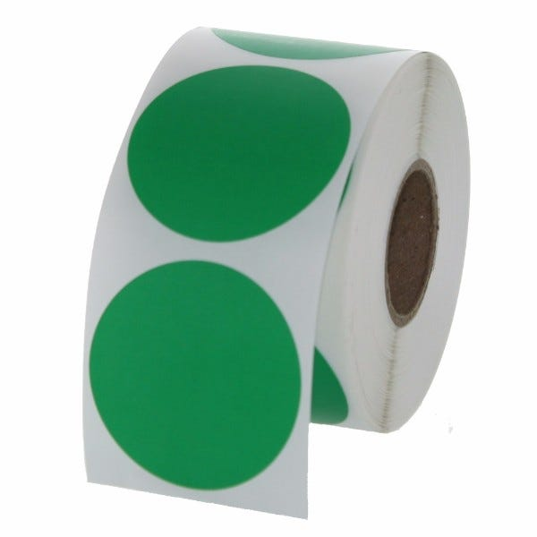 "1.5"" Round Labels - Green"