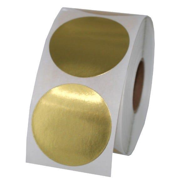 "1.5"" Round Labels - Gold Foil"