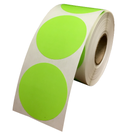 "1.5"" Round Labels - Lime Green"