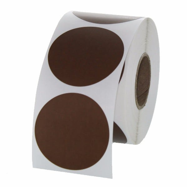 "1.5"" Round Labels - Brown"