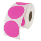 "1.5"" Round Labels - Fluorescent Pink"