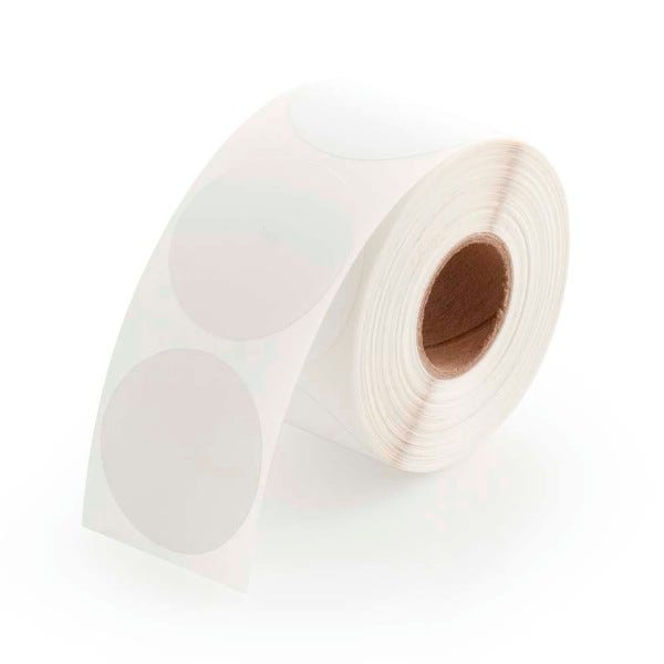 "1.5"" Round Labels - White"