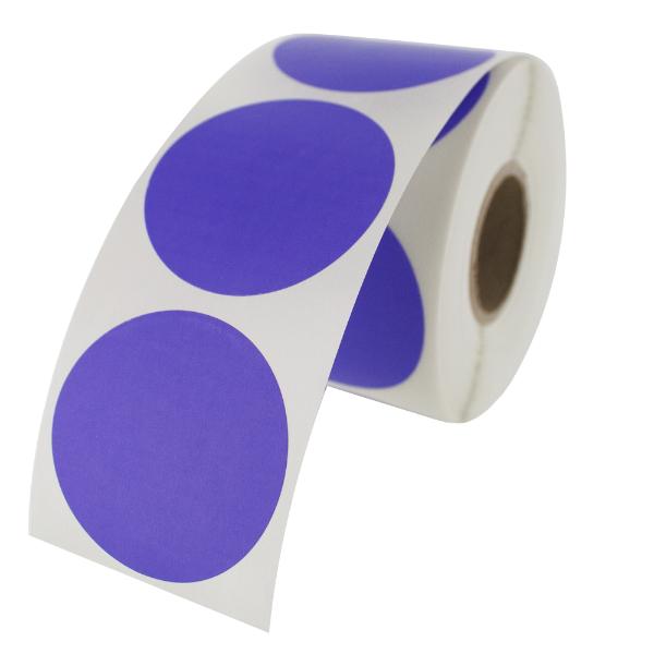"""1.5"""" Round Labels - Purple"""