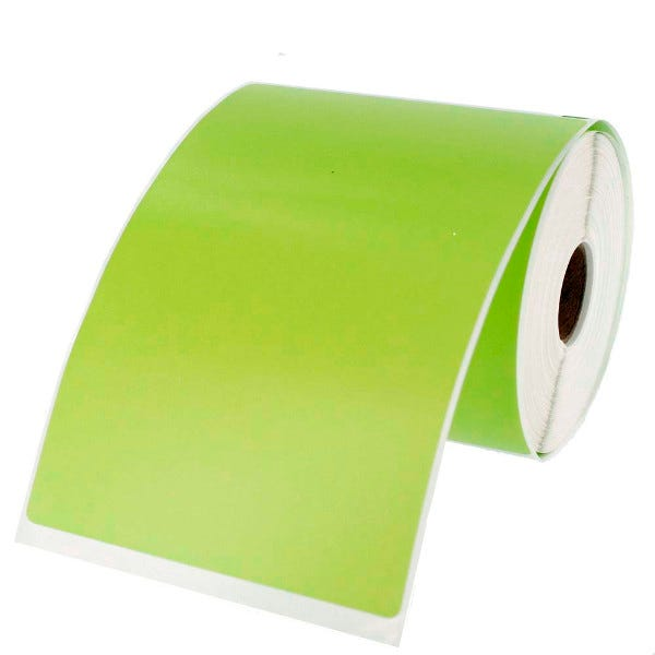 Dymo LV-1744907 Green 4x6 Compatible Labels