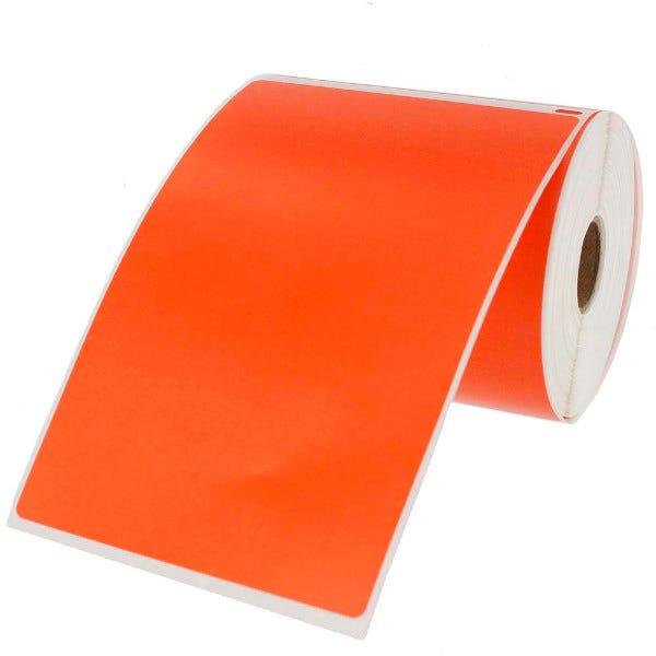 Dymo LV-1744907 Compatible 4x6 Orange Labels