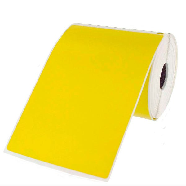 Dymo LV-1744907 Compatible 4x6 Yellow Labels