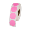 "1"" Round Labels - Pink"