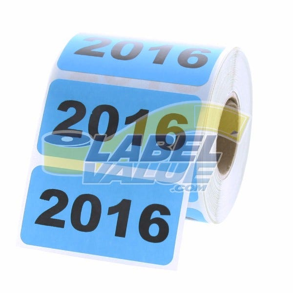 """Year 2016 Labels 2"""" x 1"""""""