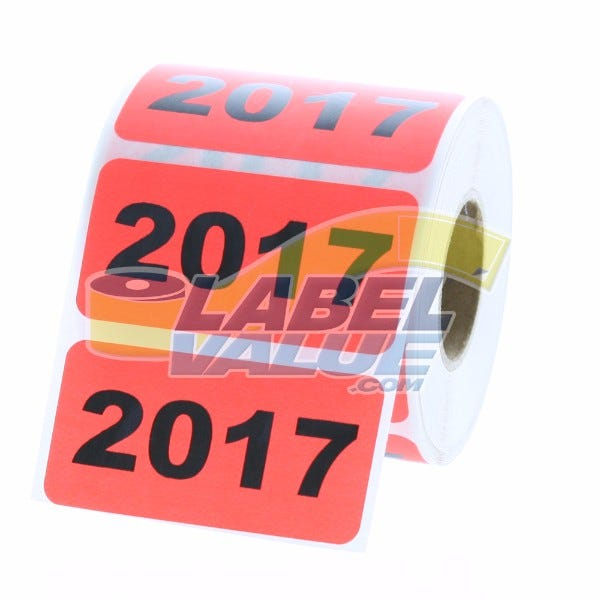 """Year 2017 Labels 2"""" x 1"""""""