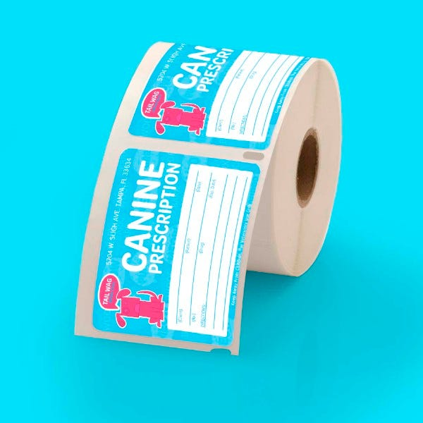 """Custom Printed Dymo Compatible 2-1/8"""" x 2-3/4"""" Labels - CLV-30258"""