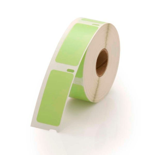 Dymo LV-30336 Compatible Green Labels - 1 x 2-1/8