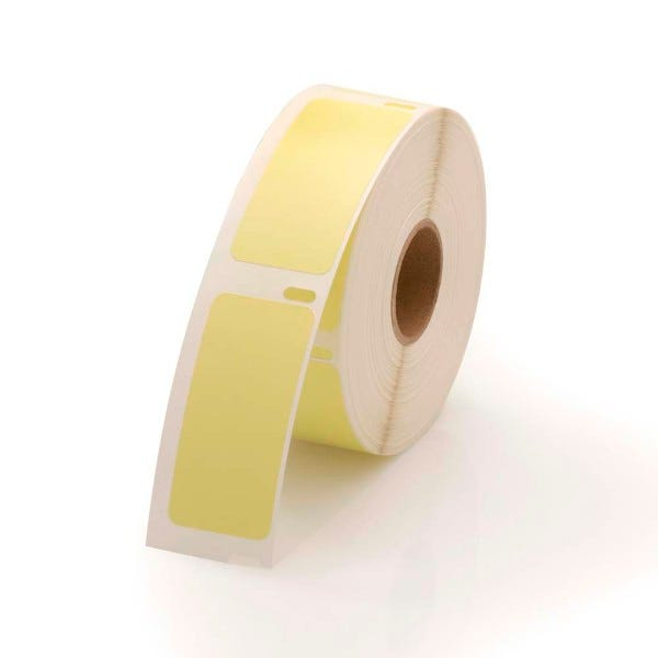Dymo LV-30336 Compatible Yellow Labels - 1 x 2-1/8