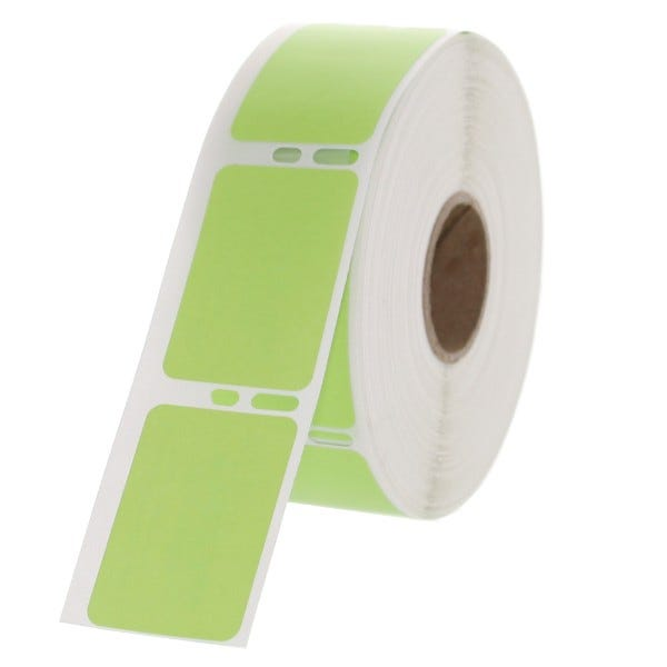 """Dymo Compatible LV-30347G Green Labels 1"""" x 1-1/2"""""""